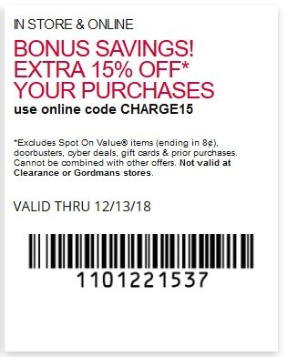 Bonus savings! Extra 15% off your purchases.